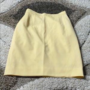 Escada Margaretha Ley Yellow pencil skirt